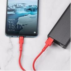 Кабель Hoco USB-Type-C U82 Cool Grace 2.4A 1.2m Red
