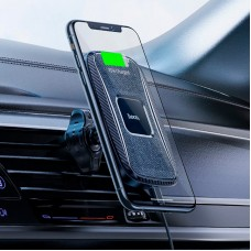 Автодержатель Wireless Hoco CA75 Magnetic присоска Black