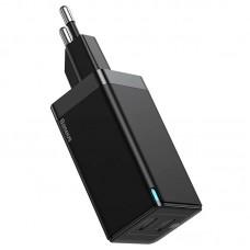 СЗУ 2Type-C Baseus GaN2 PD 45W QC 3.0 3A + Cable Type-C-Type-C (CCGAN-M01) Black
