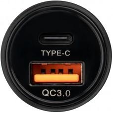 Адаптер автомобильный 1USB Type-C Gelius Pro Twix QC PD 18W 3.1A Black (GP-CC006)