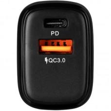 Адаптер сетевой 1USB Type-C Gelius Pro X-Duo QC 3.0 PD 20W 3A Black (GP-HC014)
