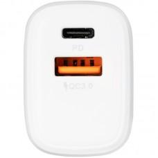 Адаптер сетевой 1USB Type-C Gelius Pro X-Duo QC3.0 PD 20W 3A White (GP-HC014 )