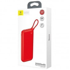 УМБ Baseus Powerful 2USB 1Type-C PD 18W QC3.0 3A 20000mAh Red (PPKC-A09)