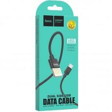 Кабель USB-Type-C Hoco U55 Outstanding 2.4A Black 1m