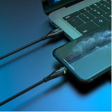 Кабель USB-Lightning Hoco U93 Shadow 2.4A Black 1.2m