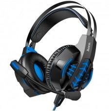 Наушники гарнитура накладные Hoco W102 Cool LED Blue