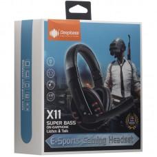 Наушники гарнитура накладные игровые Deepbass X11 Black