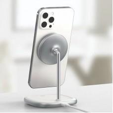 БЗУ Baseus LED Display Wireless Charger 15W MagSafe iPhone 12 (WXSW-02) White