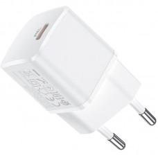 Адаптер сетевой Type-C Hoco N10 PD 20W 3A White