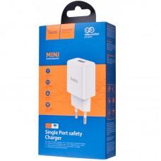 Адаптер сетевой 1USB Hoco N9 2.1A White