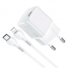 СЗУ Type-C Hoco N10 PD 20W 3A + Cable Type-C-Lightning White