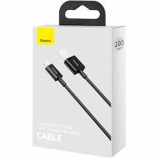 Кабель USB-Lightning Baseus Superior 2.4A (CALYS-A01) Black 1m