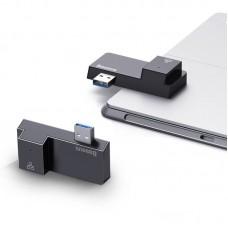 USB HUB Baseus Multifunctional USB-RJ45 2USB 3.0 5Gbps (CAHUB-FP01) Black