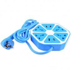 Сетевой фильтр SK Цитрус 4 розеток 4USB 1.8m Blue