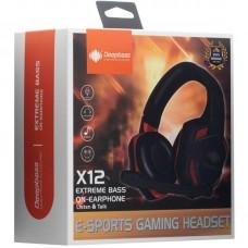 Наушники гарнитура накладные игровые Deepbass X12 Black