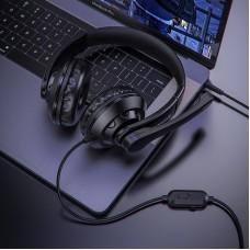 Наушники гарнитура накладные игровые Borofone BO102 PC Amusement mic Black