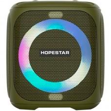 Колонка портативная Bluetooth Hopestar Party 100 (Led) Green