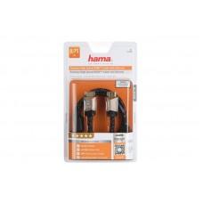 Кабель HDMI-HDMI Premium M/M Hama 0.75m Black (00122209)