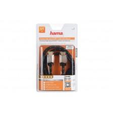 Кабель HDMI-HDMI Premium M/M High Speed Hama 1.5m Black (00122210)