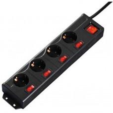 Сетевой фильтр Hama (00137257) 4 розетки 1.4m 16A Black