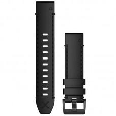 Ремешок Leather Garmin QuickFit для Samsung Xiaomi Huawei Garmin Fitbit 22mm Black (010-12738-19)