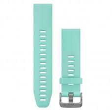 Ремешок TPU Garmin QuickFit 20mm для Garmin Fenix 5S Plus Frost Blue Silicone (010-12739-04)