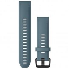 Ремешок TPU Garmin QuickFit 20mm для Garmin Fenix 6S Lakeside Blue (010-12870-00)
