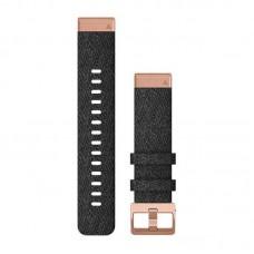 Ремешок TPU Garmin QuickFit 20mm для Garmin Fenix 6S Heathered Black/Gold (010-12874-00)
