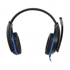 Наушники гарнитура накладные Gemix X-340 Black/Blue (04300096)