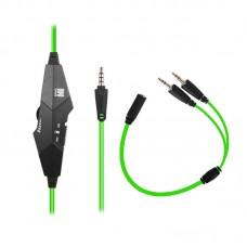 Наушники гарнитура накладные Gemix N1 Black/Green (04300104)