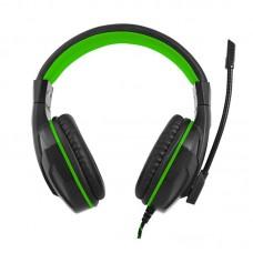 Наушники гарнитура накладные Gemix N20 Black/Green (04300107)