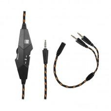 Наушники гарнитура накладные Gemix N20 Black/Orange (04300108)