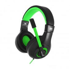 Наушники гарнитура накладные Gemix N3 Black/Green (04300109)