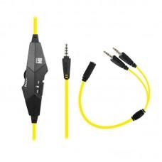 Наушники гарнитура накладные Gemix N4 Black/Yellow (04300110)