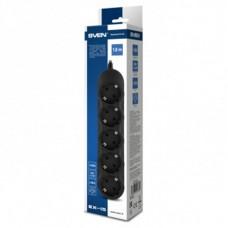 Сетевой фильтр Sven EX-I5 5 розеток 1.8m 10A Black