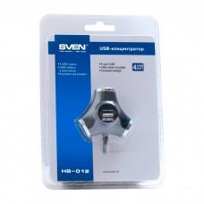 USB HUB Sven USB-USB 4USB 2.0 HB-012 Black