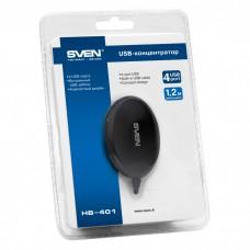 USB HUB Sven USB-USB 4USB 2.0 Black (HB-401)