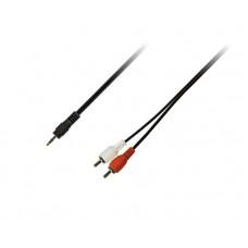 Кабель Audio Piko 3.5мм-2RCA 1.5m Black (1283126473890)