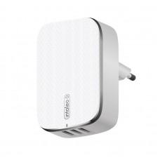 Адаптер сетевой Intaleo TCA343 3USB 3.4A White (1283126479021)