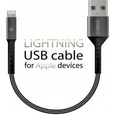 Кабель Intaleo USB-Lightning 0.2m CB0 Black/Grey (1283126495618)