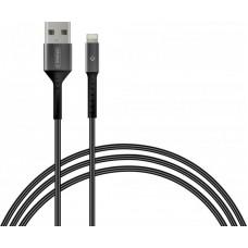 Кабель Intaleo USB-Lightning 1.2m CB0 Black/Grey (1283126495625)