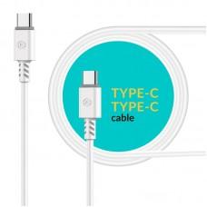 Кабель Piko CB-TT11 Type-C-Type-C 1.2m White (1283126504020)