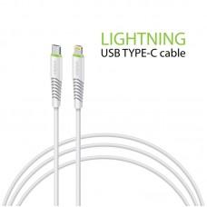 Кабель Intaleo Type-C-Lightning 1.2m CBFLEXTL1 White (1283126504099)