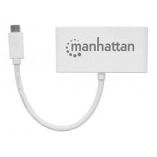 USB HUB Manhattan Type-C-USB 3USB 3.0 White (163552)