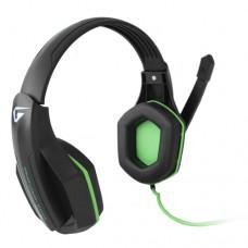 Наушники гарнитура накладные Gemix W-330 Gaming Black/Green