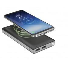 УМБ Trust Primo 8000mAh Wireless 2USB 2.4A Qi Black (22823)