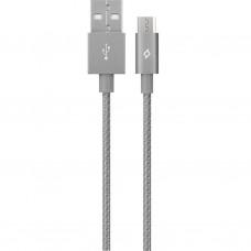 Кабель Ttec USB-MicroUSB AlumiCable 1.2m Space Gray (2DK11UG)
