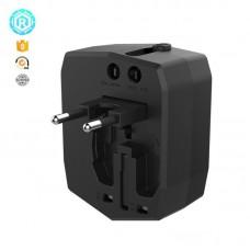 Зарядное устройство сетевое Nomi UC01 2USB 2.5A Black 338348