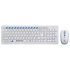 Комплект клавиатура + мышь Wireless Defender Skyline 895 Nano White (45895) USB