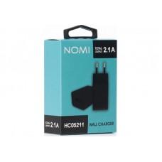 Адаптер сетевой Nomi HC05211 1USB 2.1A Black (481611)